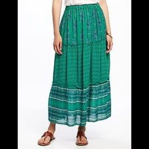 Old Navy Tiered Boho Maxi Skirt